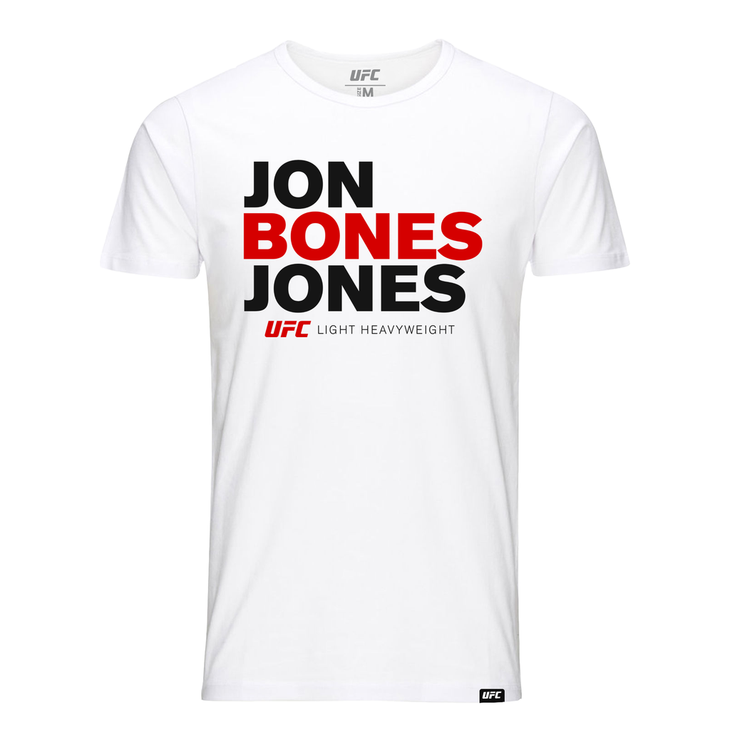"Jon ""Bones"" Jones Stacked Kid's T-Shirt- White"