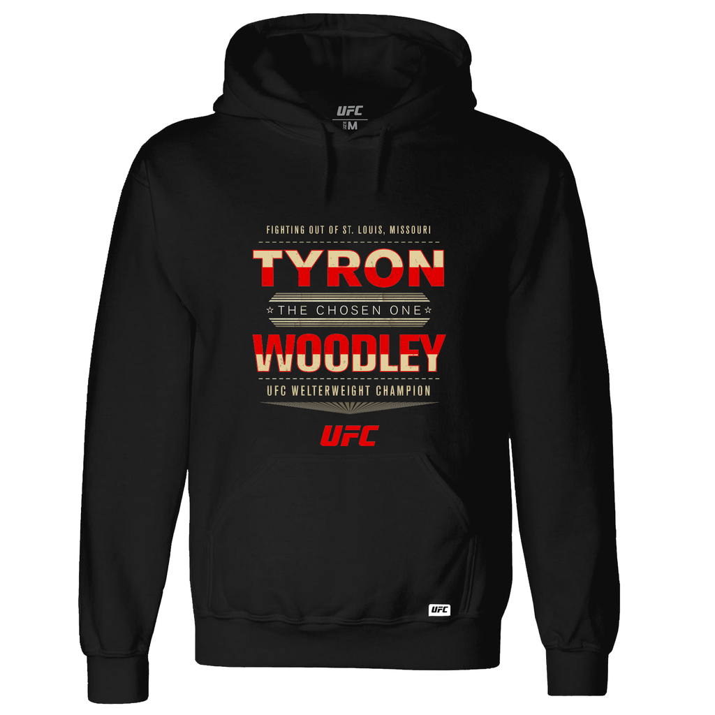"UFC Tyron ""The Chosen One"" Woodley Graphic Hoodie- Black"