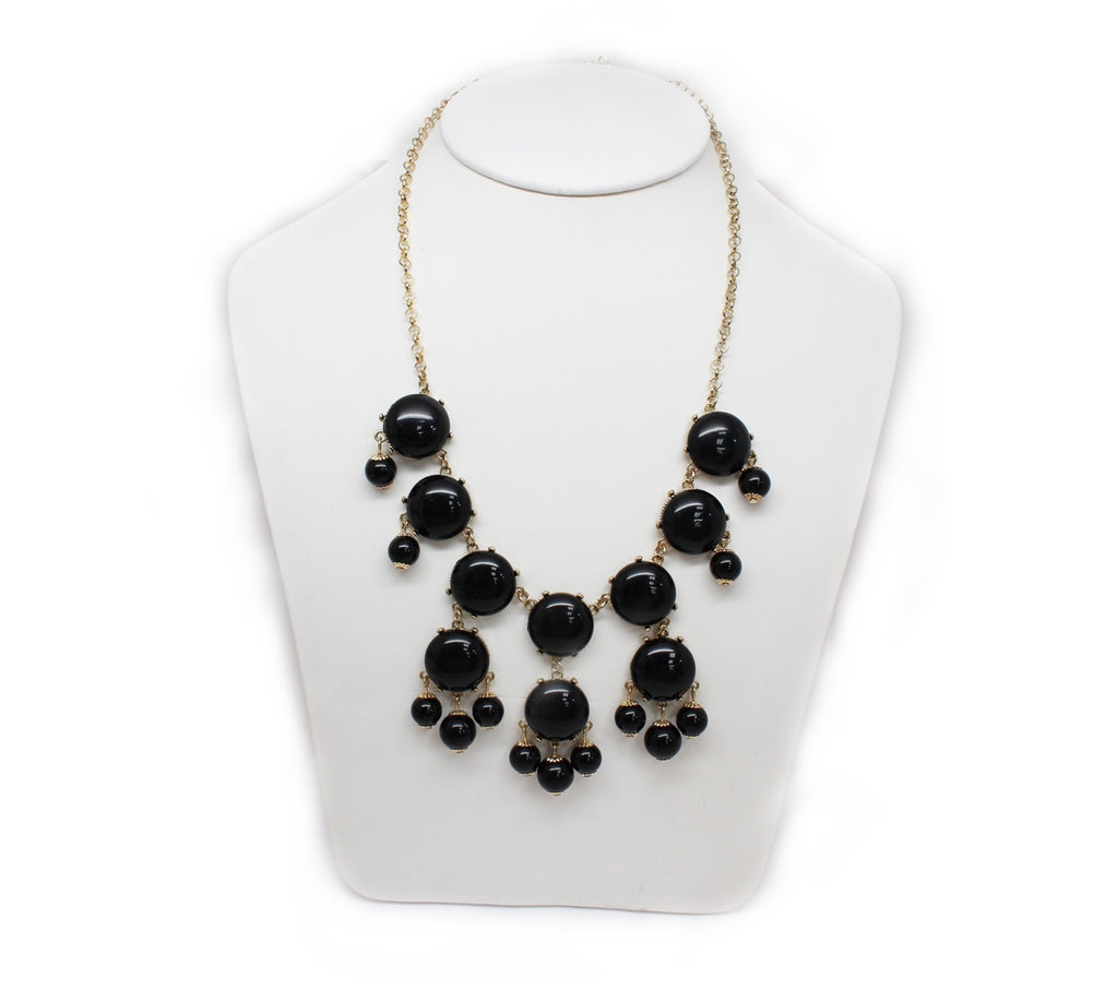 Black Chimes Statement Necklace - Allyanna Gifts