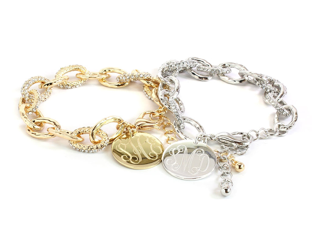 Pave Link Bracelet In Gold or Silver - Allyanna Gifts