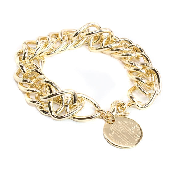 Double Link Chain Charm Bracelet - Allyanna Gifts