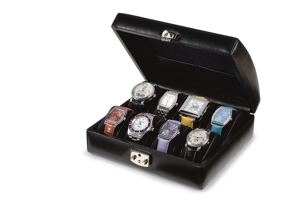 Capri 8 Watch Case Italian Leather Collection