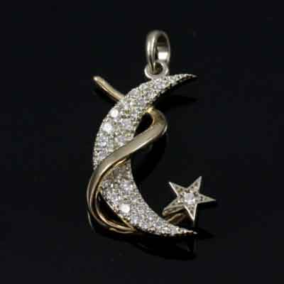 Moon Shooting Star Pendant