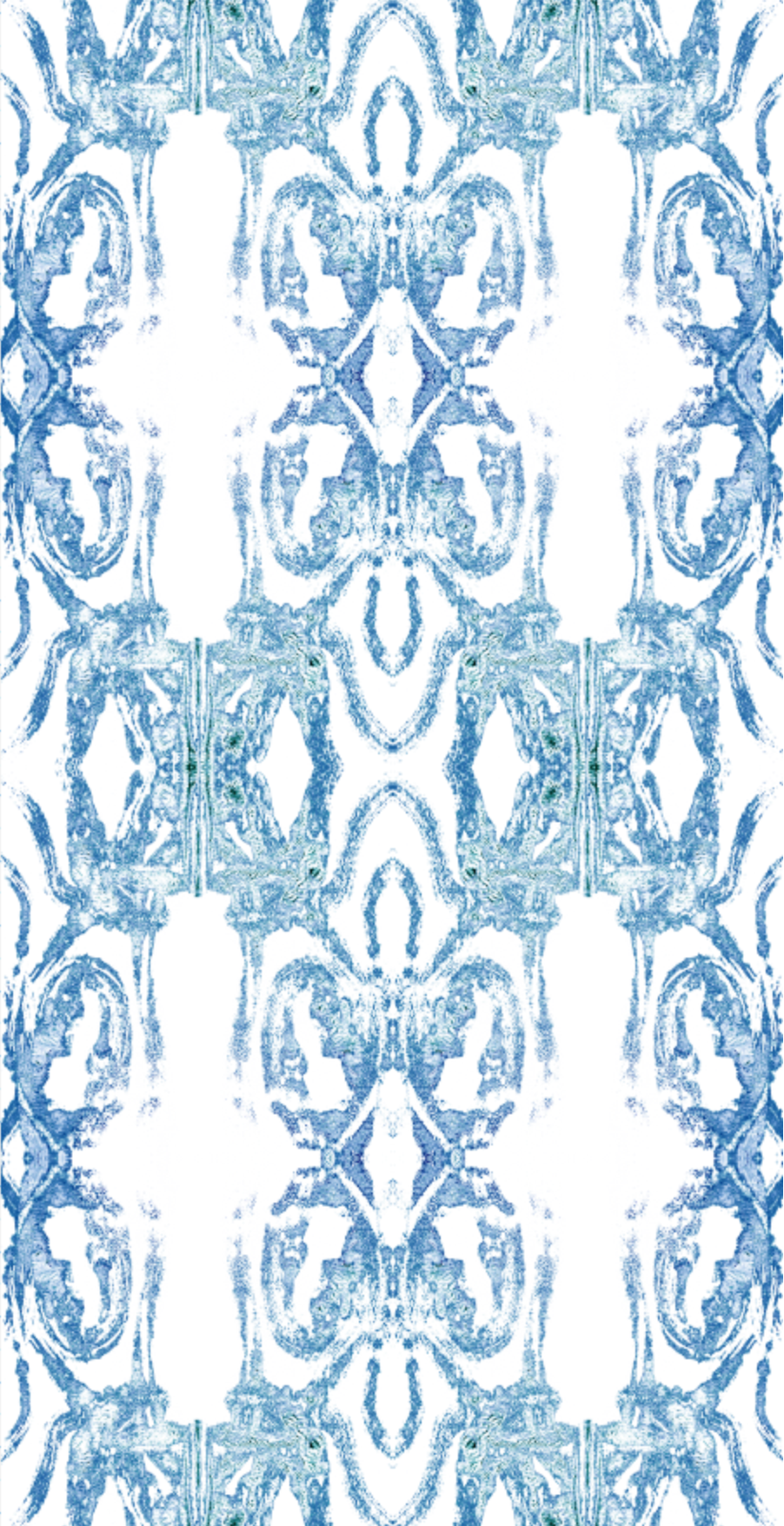 blue damask wallpaper, blue green wallpaper, charleston artist textiles, charleston wallpaper, powder room wallpaper decor, powder room design