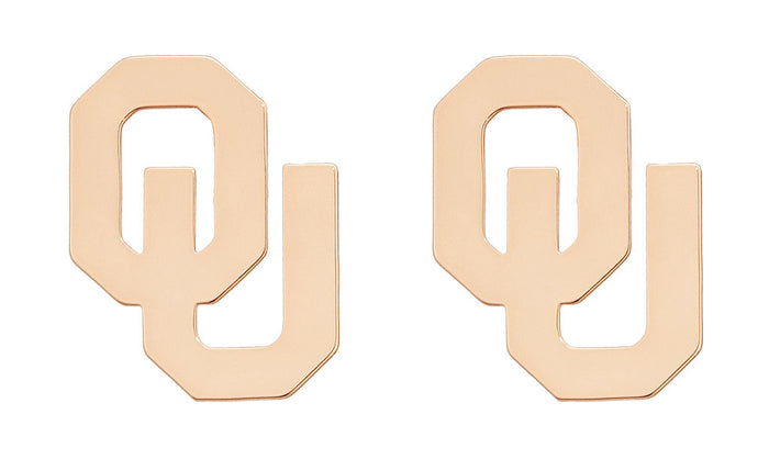 Pre-Order University of Oklahoma OU Letter Earrings