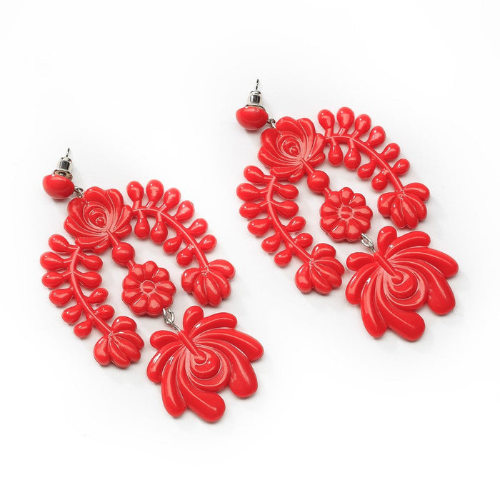 Red Garland Earring - sale