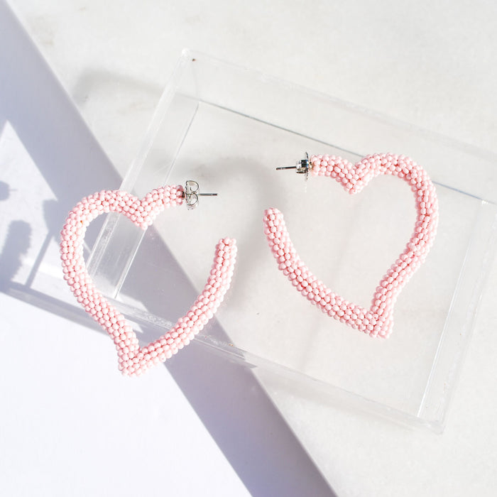 Heart Hoop in Bubblegum