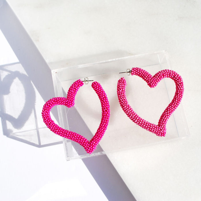 Heart Hoop in Fuchsia