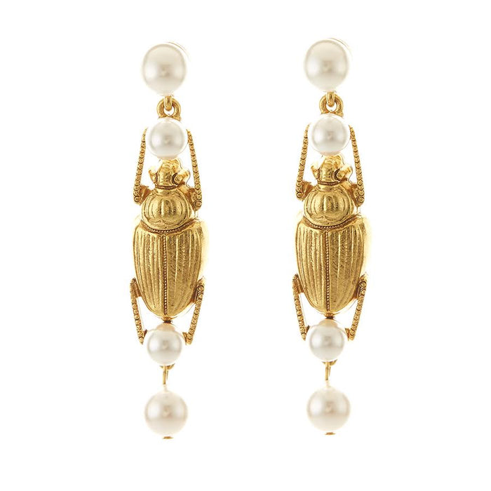 Scarab Earring in Gold