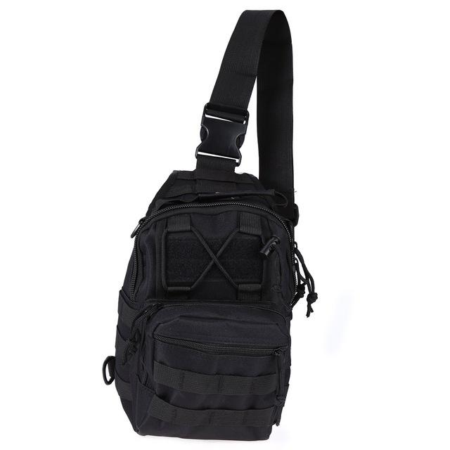 Tactical-Shoulder-Sling-Backpack-Chest-Bag-for-Outdoor-Hiking-Travel-Molle thumbnail 28
