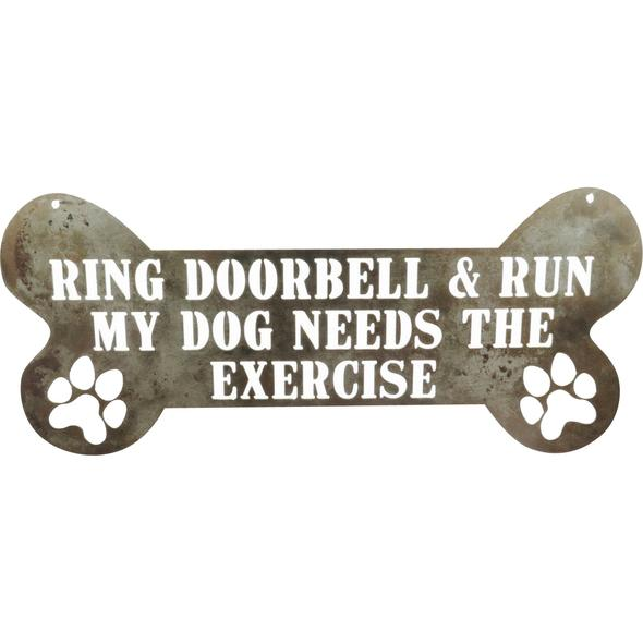 Ring Doorbell & Run Sign