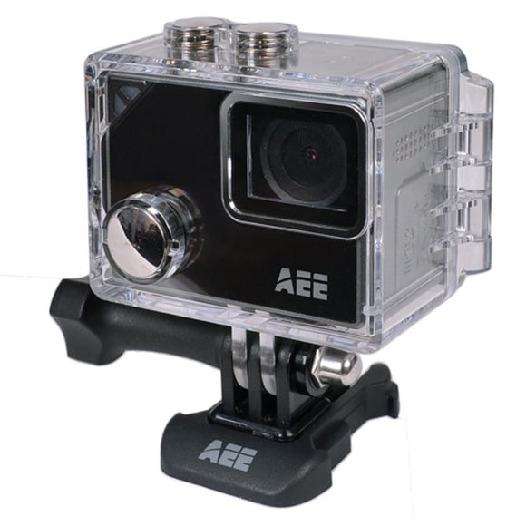 Aee Lyfe Silver 4K Action Camera W/Time Lapse; Slow Motion; 1.8Touchscreen Display & Waterproof Housing