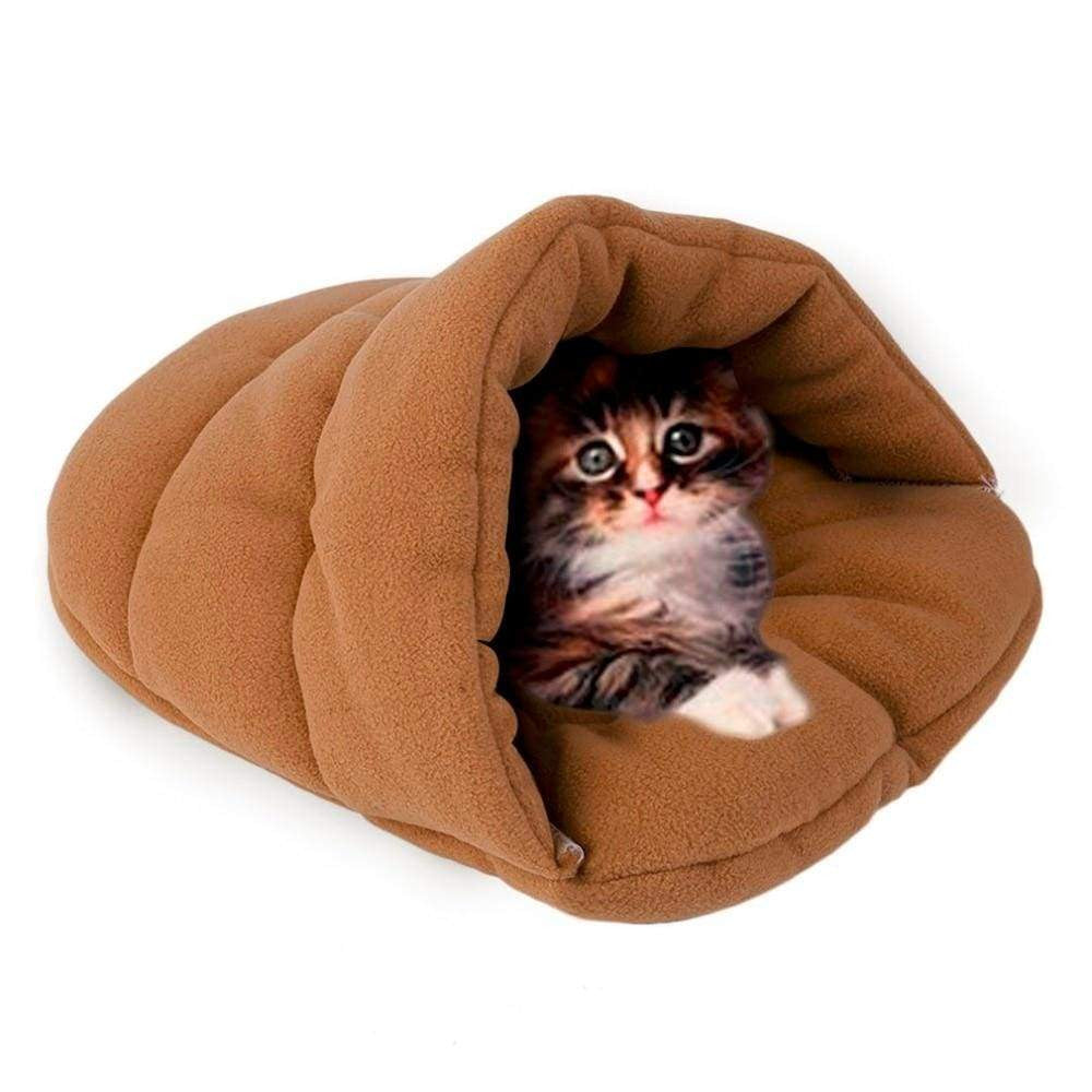 Cat Cave House Soft Fleece Cozy Cat Sleeping Bag for Winter | Uspetsuper store