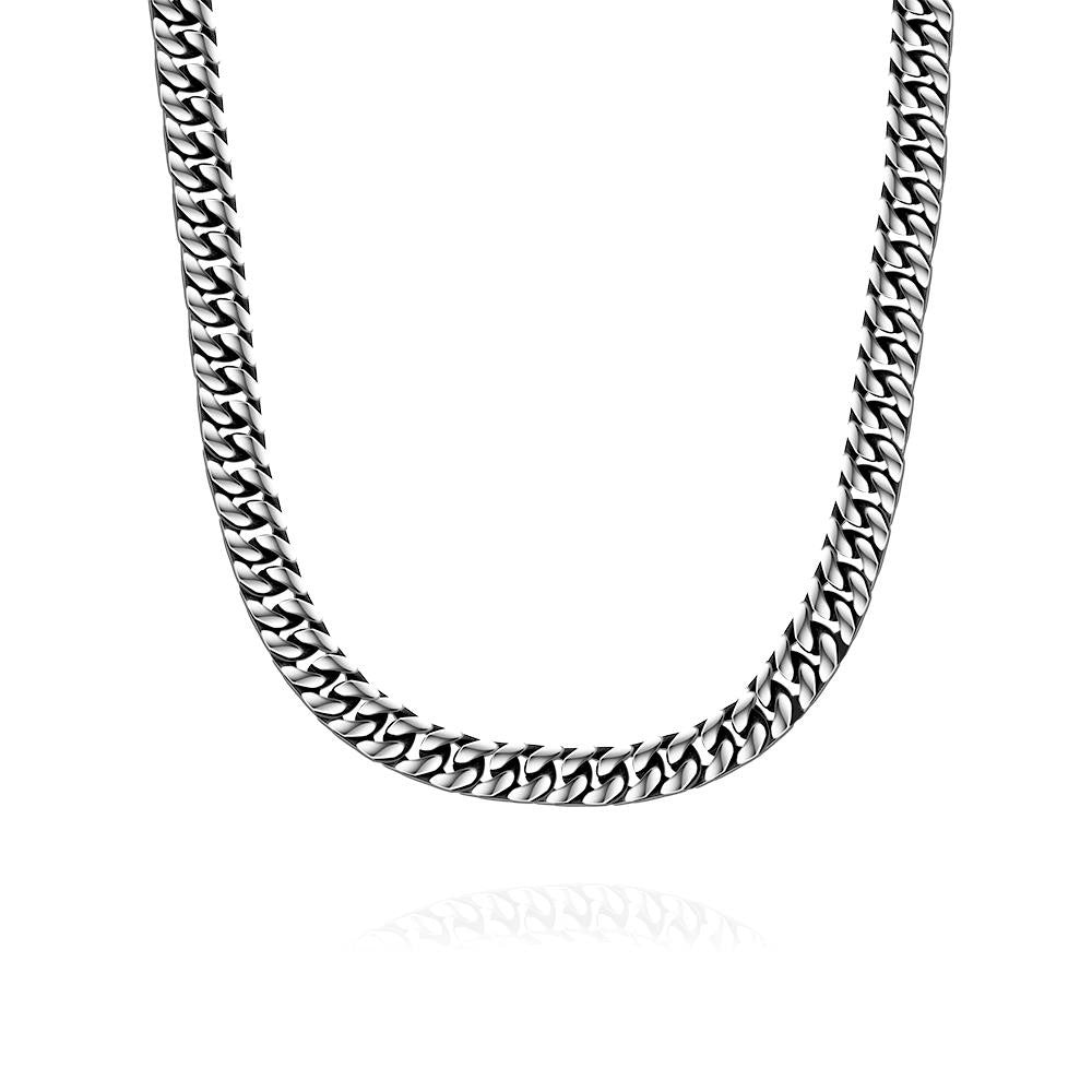 Mens Stainless Steel Classic Cuban Chain - CharmToSpare