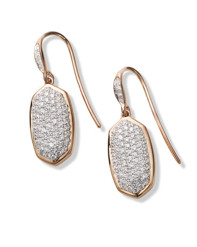 Made with Swarovski Crystal 18K Rose Gold Pave Drop Earrings - CharmToSpare