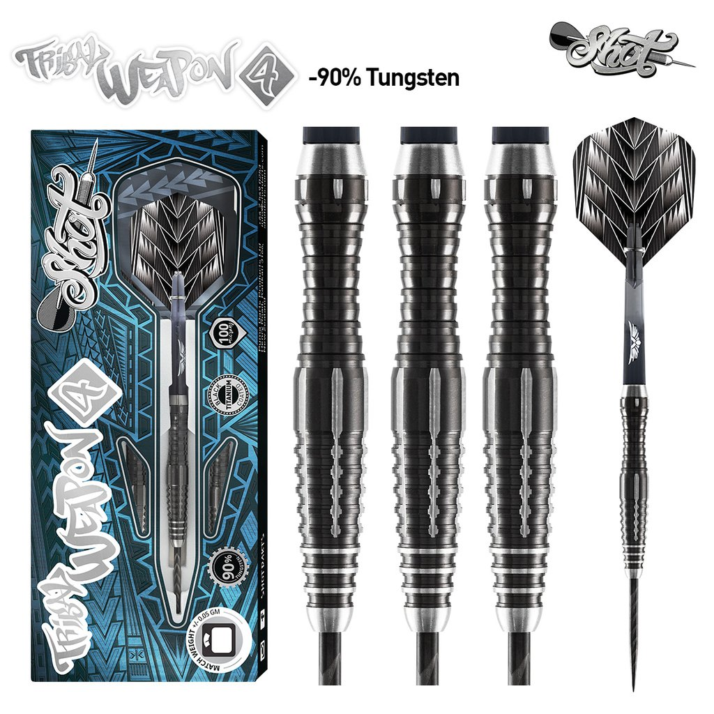 Shot Tribal Weapon 4 Darts Set 90% Tungsten 24g