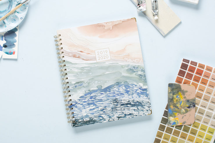 "2019-2020 Kelly Ventura for Blue Sky ""Current"" 8.5 x 11 Weekly Hardcover Planner"
