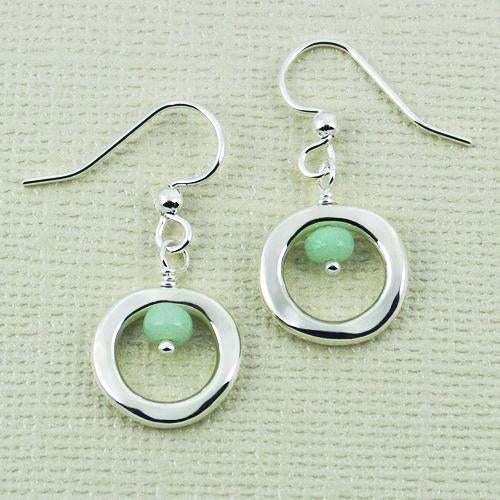 Organic Loop Amazonite Earwire, 12mm
