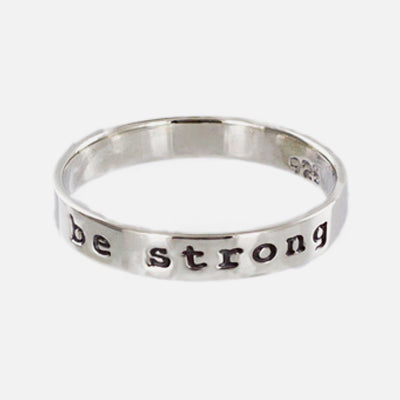 Be Strong Sterling Ring