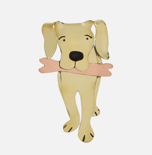 Go Fetch Golden Brooch Pin