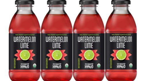 Organic Watermelon Lime Deep Ocean Water Drinks