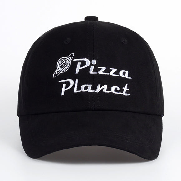 Brand New Pizza Planet Hat Baseball Cap Embroidery Dad Hat Summer Sun Pizza Cotton Snapback Hip Hop Sport Cap pokemon bone