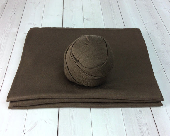 Chocolate Brown Newborn Stretch Wrap