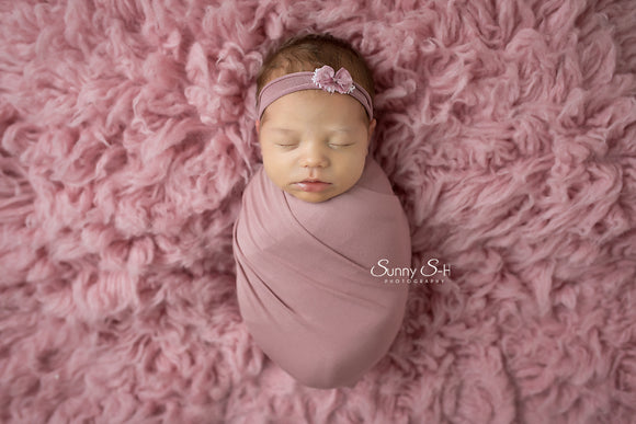 Mauve Newborn Stretch Wrap