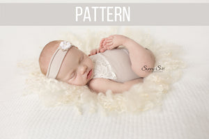 Newborn Girl Romper Sewing Pattern & Tutorial