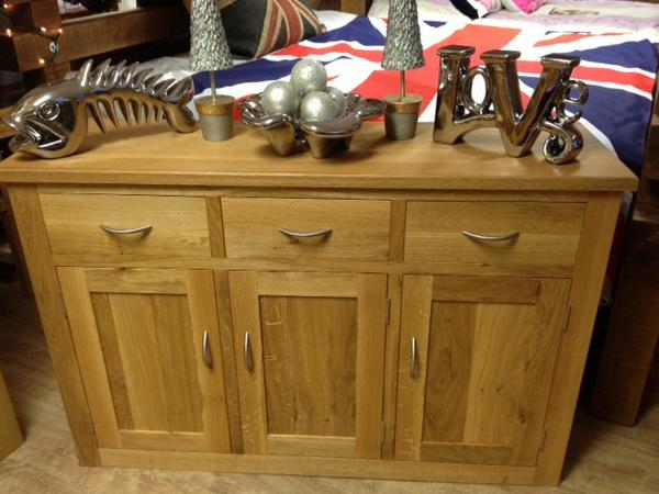 The Quercus Oak 3 Door/3 Drawer Sideboard