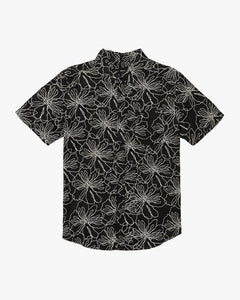 Blind Floral Button Up (Black)