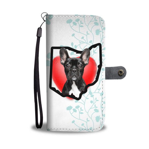 French Bulldog Print Wallet Case-Free Shipping-OH State