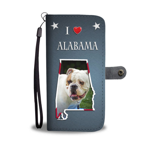 Cute Bulldog Print Wallet Case-Free Shipping-AL State