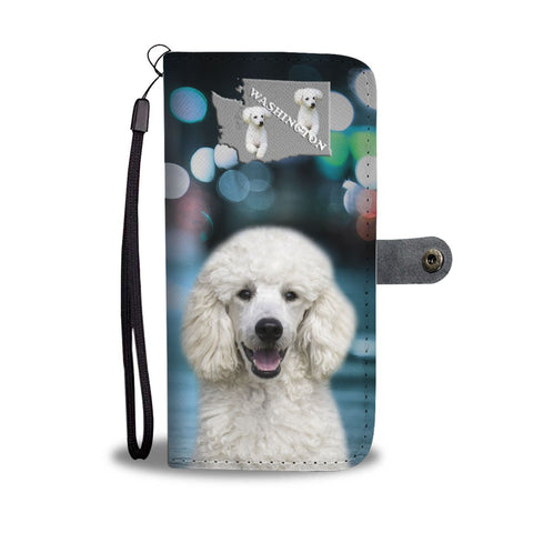 Poodle Dog Print Wallet Case-Free Shipping-WA State