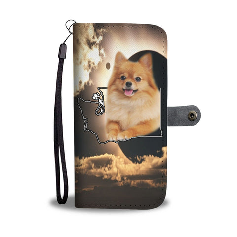 Cute Pomeranian Dog Print Wallet Case-Free Shipping-WA State