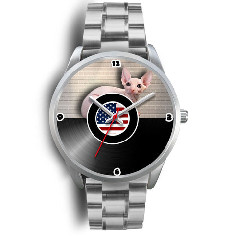 Sphynx Cat Christmas Special Silver Wrist Watch-Free Shipping