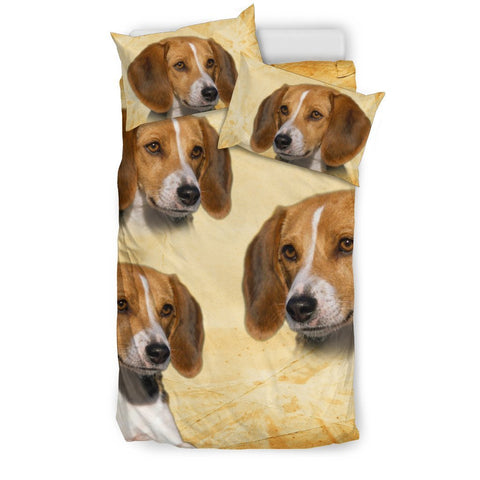 Cute American Foxhound Print Bedding Set- Free Shipping