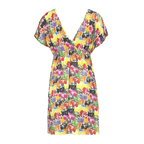Large size feminine slim printed dress