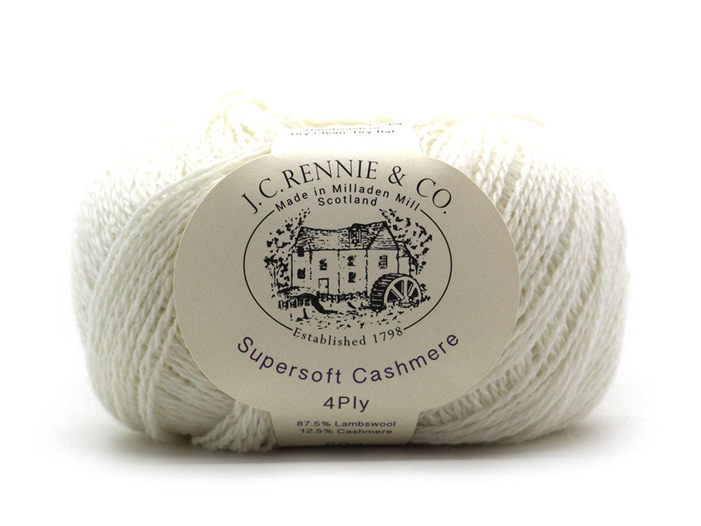 Supersoft Cashmere 4ply - Winter White 007