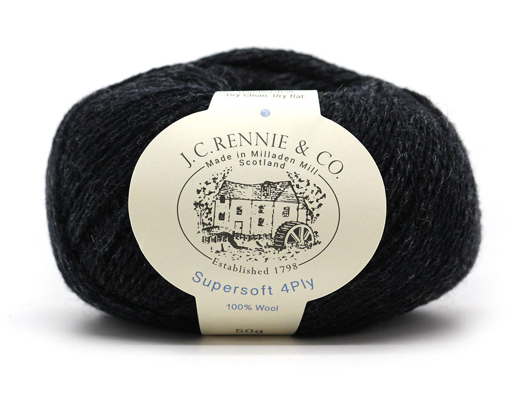 Supersoft 4ply - Charcoal 190