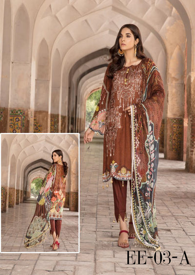 d09b9af61e 03 A - Emaan Eshaal - Luxury Festive Lawn 2019 - Unstitched - Embroidered  designer lawn