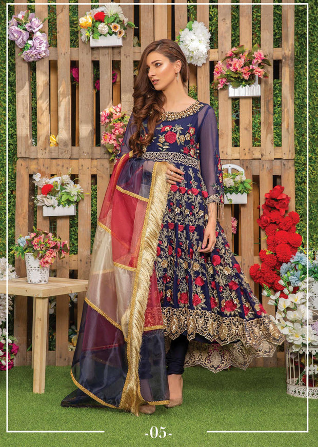 05 Indigo Lily - Sofia Khas - Readymade Fancy Suit Eid Collection 2019 - Memsaab Online