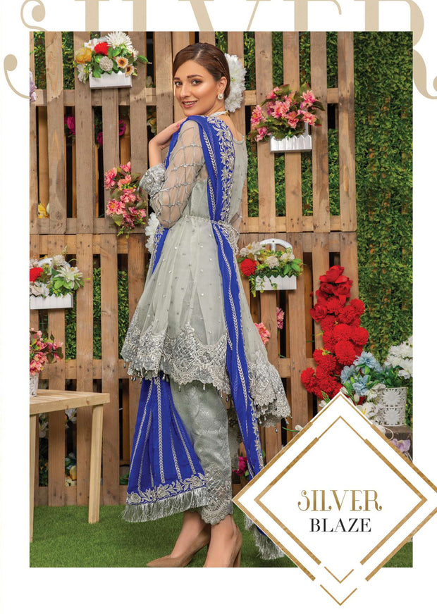 06 Silver Braze - Sofia Khas - Readymade Fancy Suit Eid Collection 2019 - Memsaab Online