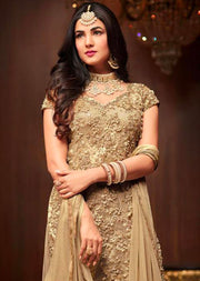 1105 - Gold - Maisha Replica - Indian Short Salwar Kameez with lengha - Memsaab Online