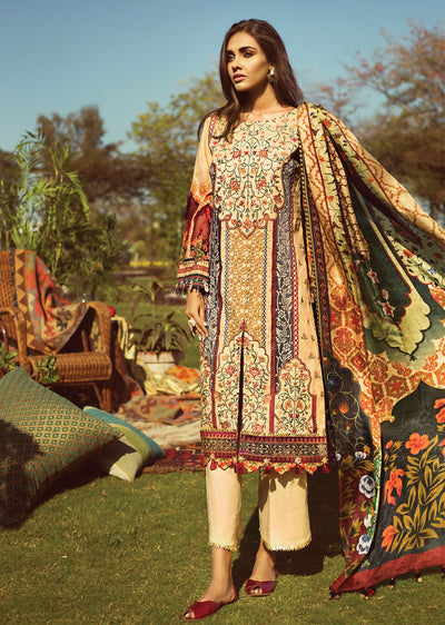 571590b95d 01 Mandarin - Baroque Jazmin Wanderlust - Pakistani Embroidered Designer  Lawn Suit UK Fast Delivery -