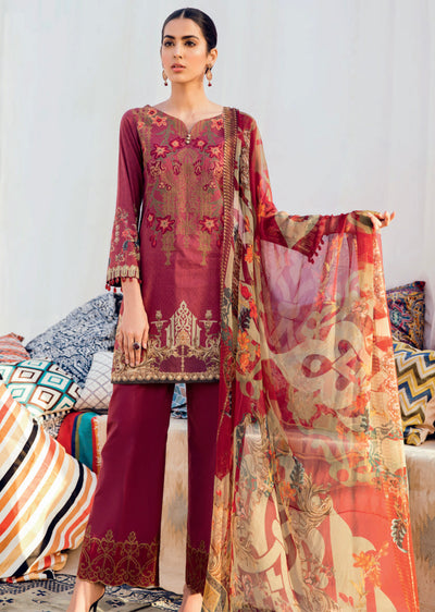 0cc7385e37 05 - IZNIK CHINON LAWN SUIT - UNSTITCHED - PAKISTANI DESIGNER EMBROIDERED -  Memsaab Online