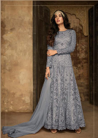 7207 - D - Maisha INSPIRED / REPLICA Aafreen Vol 2 - Unstitched - Indian Partywear Dress Collection - Memsaab Online