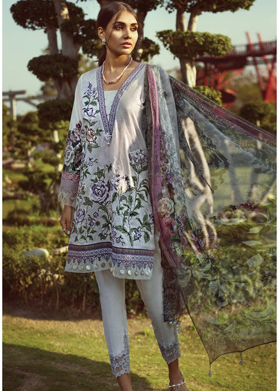 219defafbe 08 Pansy - Baroque Jazmin Wanderlust - Pakistani Embroidered Designer Lawn  Suit UK Fast Delivery -
