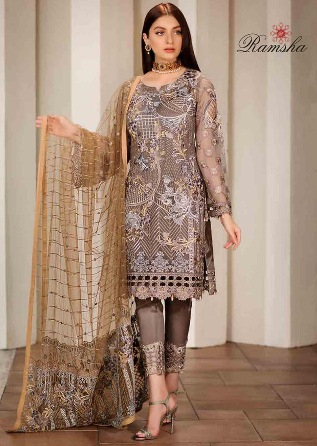 90020d9211 F-1701 Readymade Verve Vol 17 Collection by Ramsha - Pakistani designer  chiffon suits -