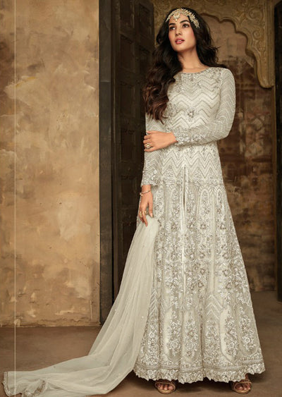 7207 - F - Maisha INSPIRED / REPLICA Aafreen Vol 2 - Unstitched - Indian Partywear Dress Collection - Memsaab Online